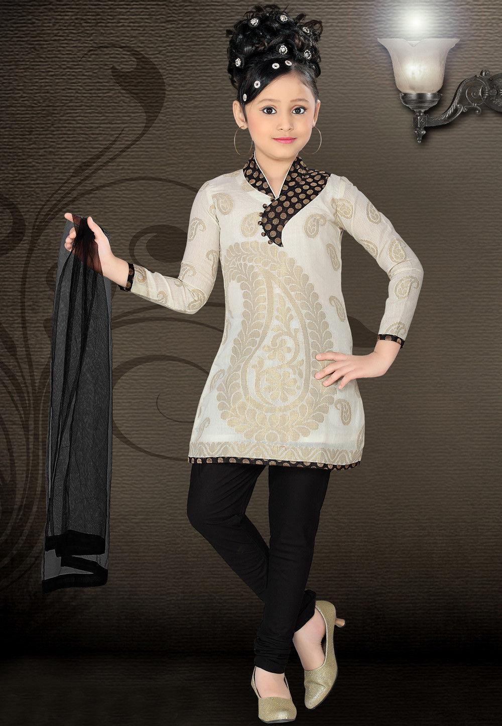 Chanderi Cotton Salwar Set in Cream