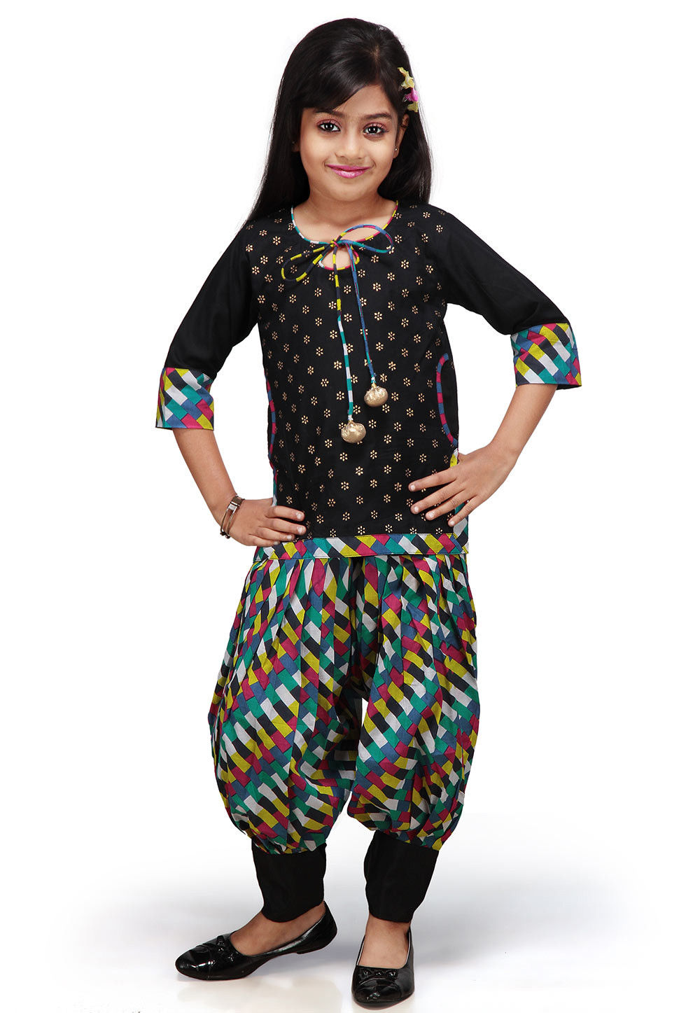 Printed Salwar Sets in Black