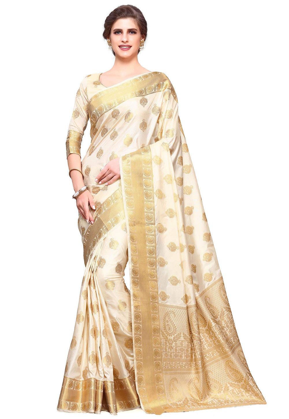 Uppada Silk Saree in Off White