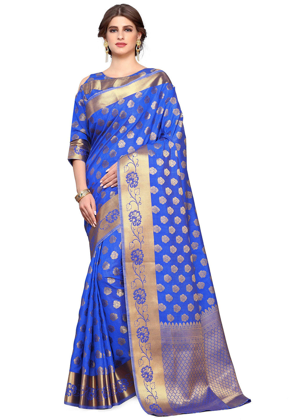 Uppada Silk Saree in Royal Blue