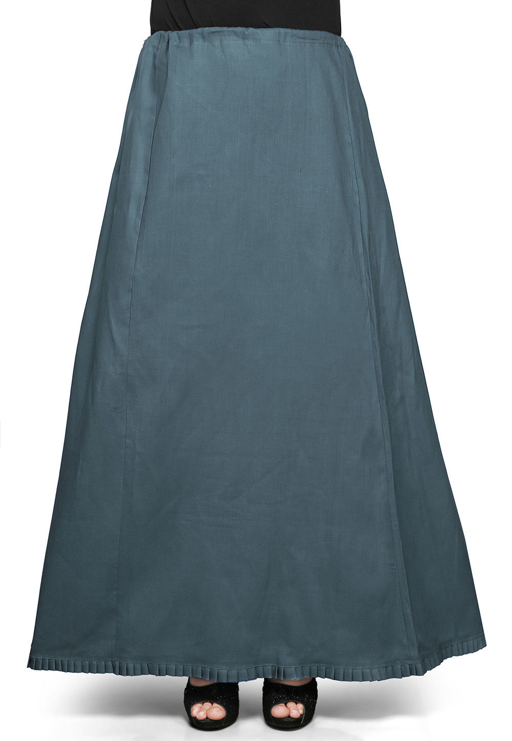 Cotton Petticoat in Dusty Teal Green