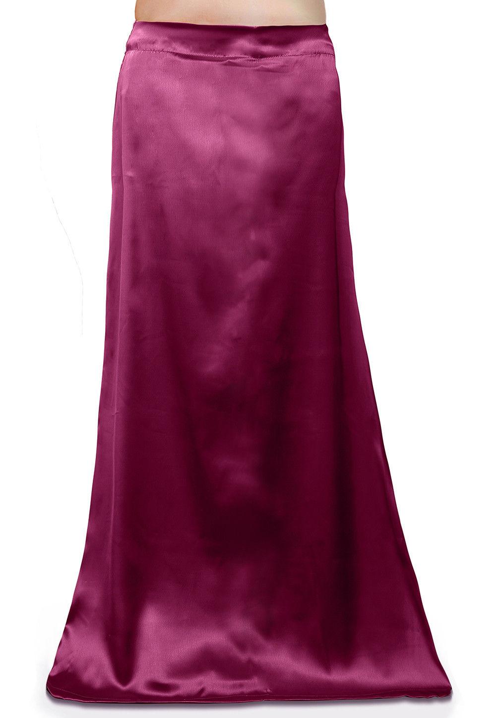 Satin Petticoat in Magenta