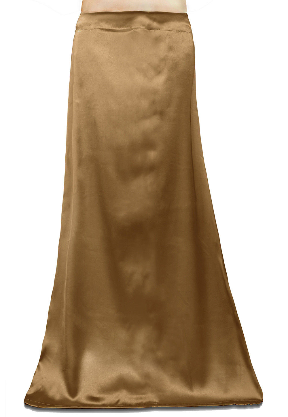 Plain Satin Readymade Petticoat in Golden