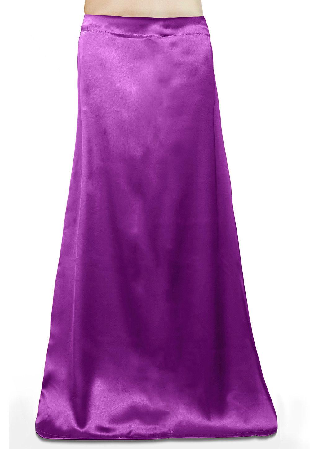 Satin Petticoat in Violet