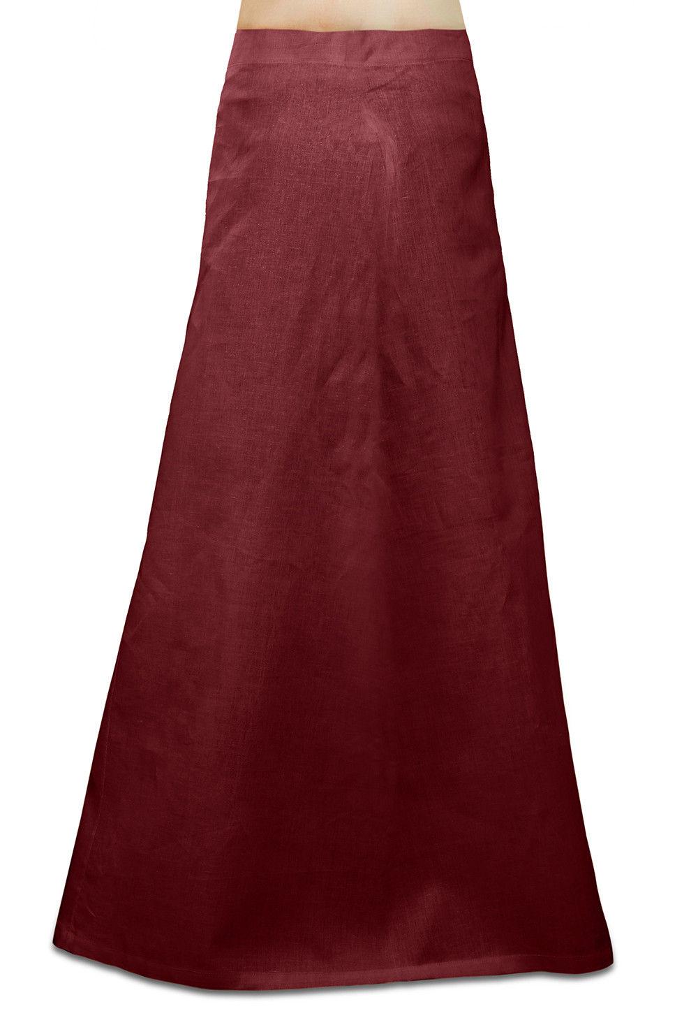 Cotton Petticoat in Maroon