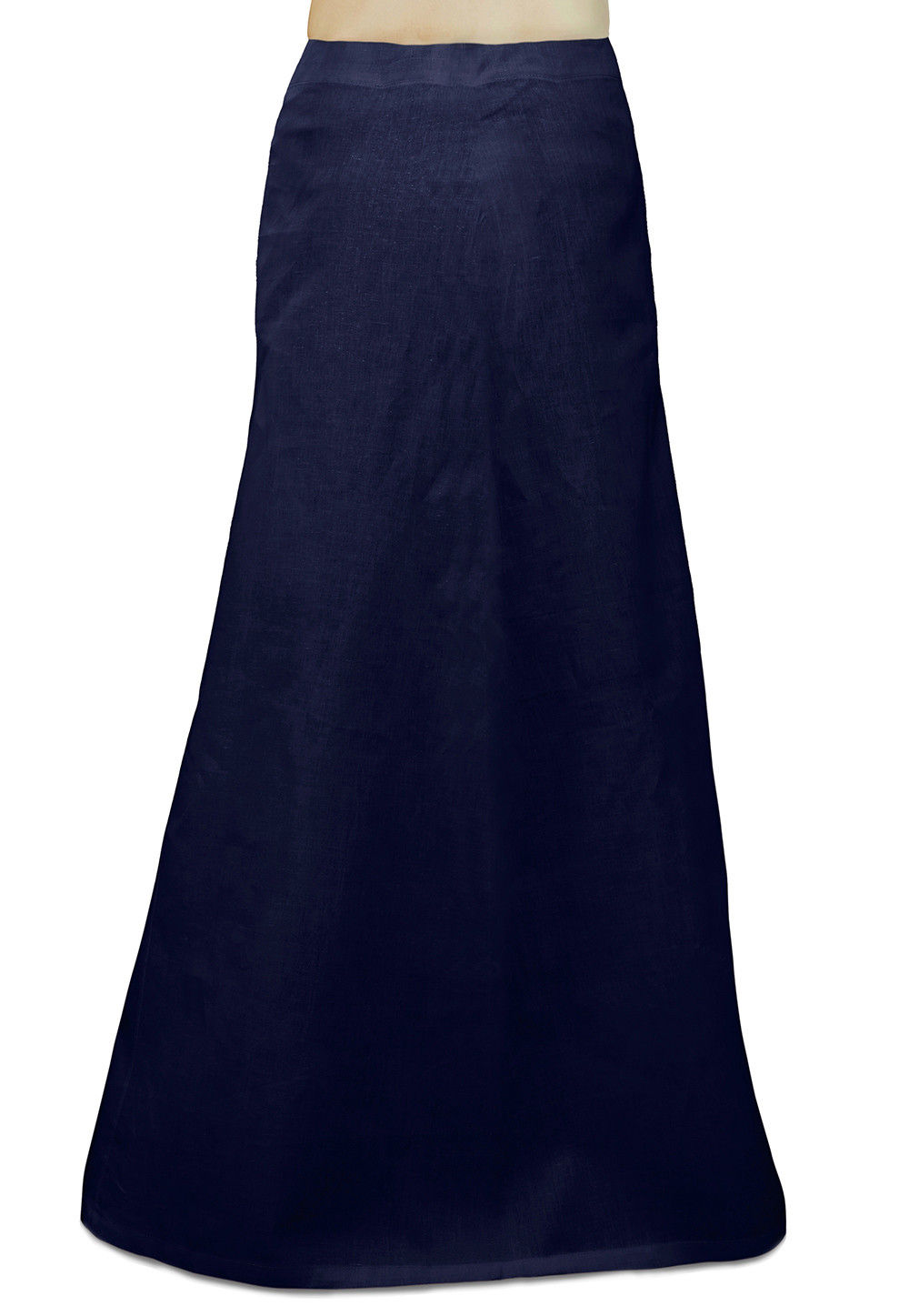 Plain Cotton Readymade Petticoat in Navy Blue