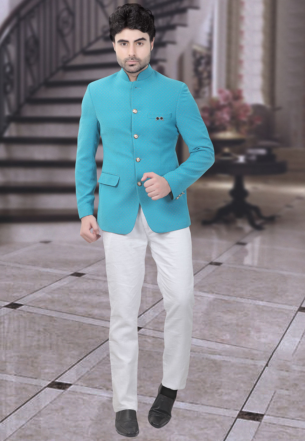 Jodhpuri Suit: Buy Designer Bandhgala Suit for Men Online | Utsav ...