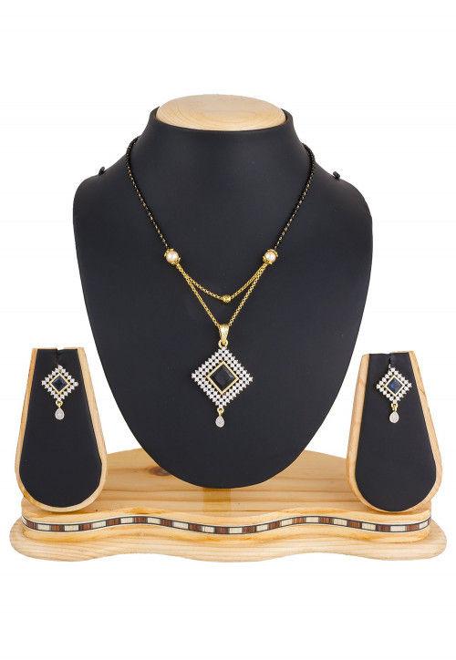 American Diamond Studded Mangalsutra Set