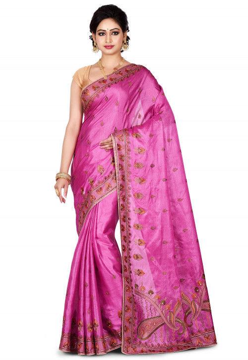 Banarasi Pure Tussar Silk Saree in Light Purple