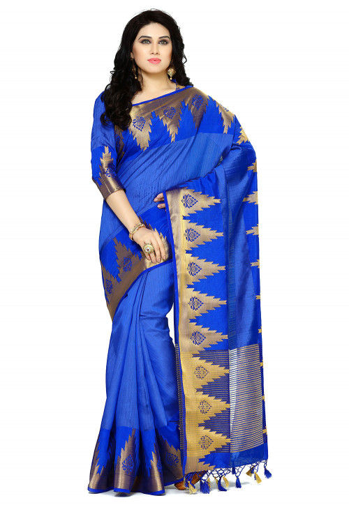 Bangalore Silk Saree in Blue