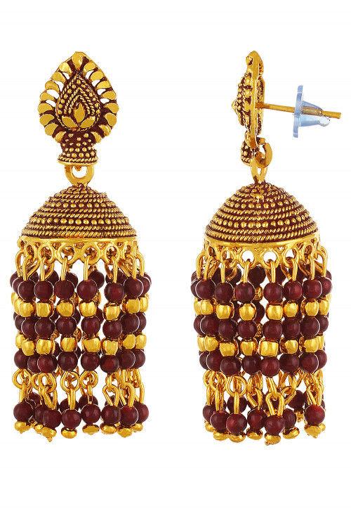 Beaded Jhumka Style Earring