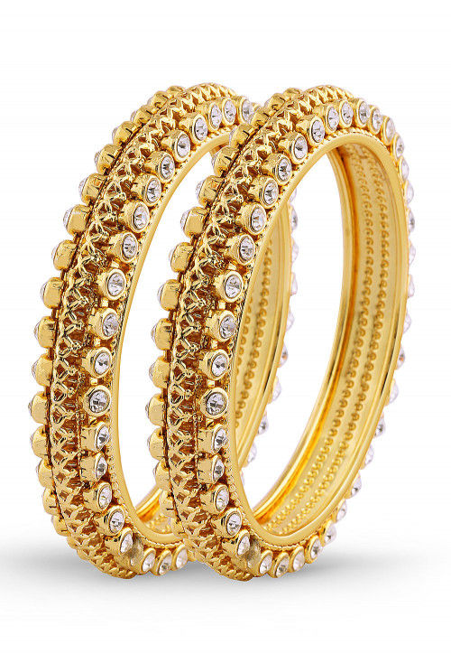 Stone Studded Pair of Bangles