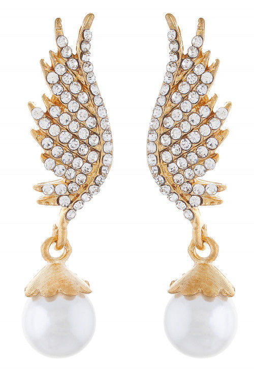 Stone Studded Earring in White