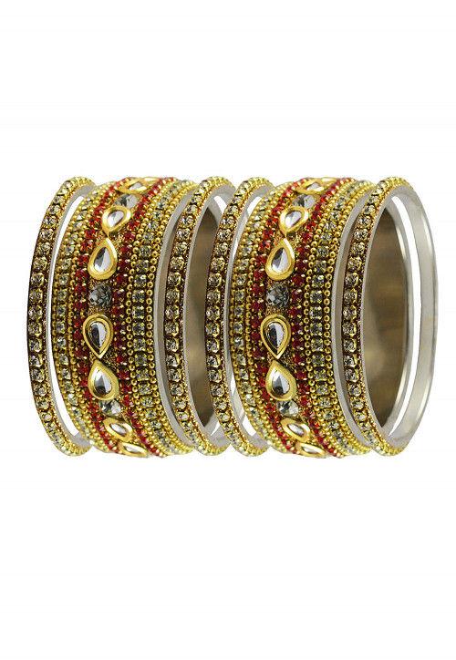 Stone Studded Set of Bangles