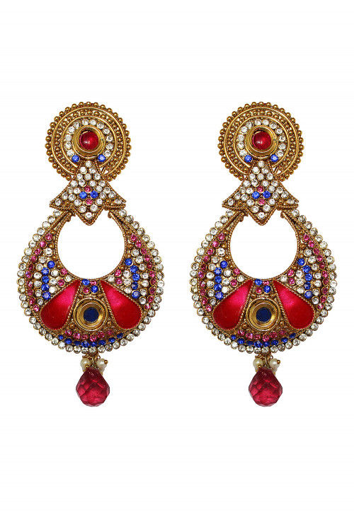 Stone Studded Chandbali Earrings