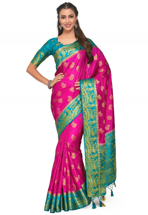 Kanchipuram Saree in Magenta