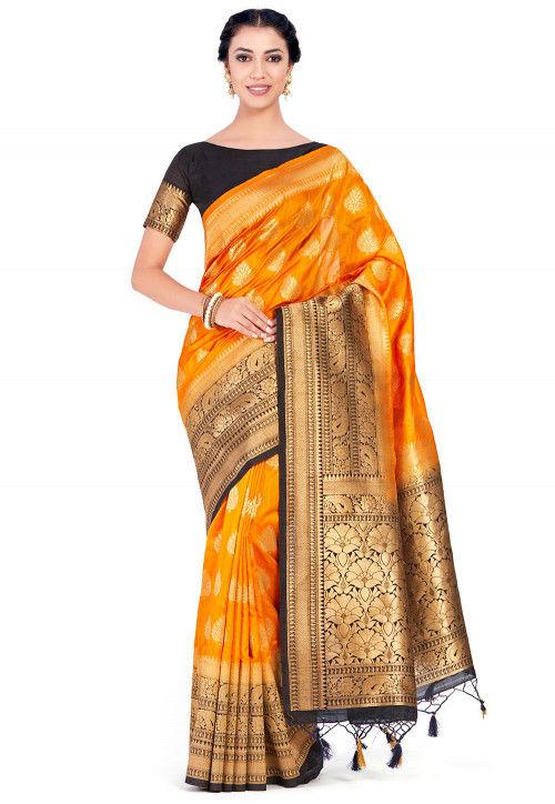 Kanchipuram Saree in Orange