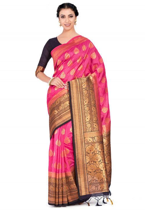 Kanchipuram Saree in Pink