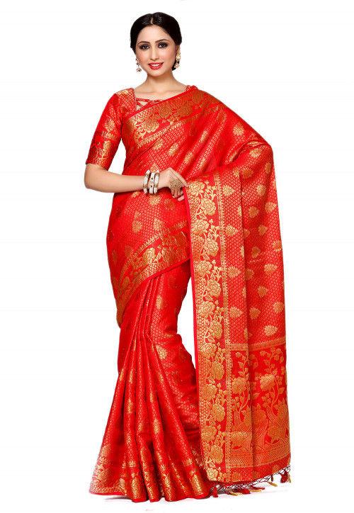 Kanchipuram Saree in Red