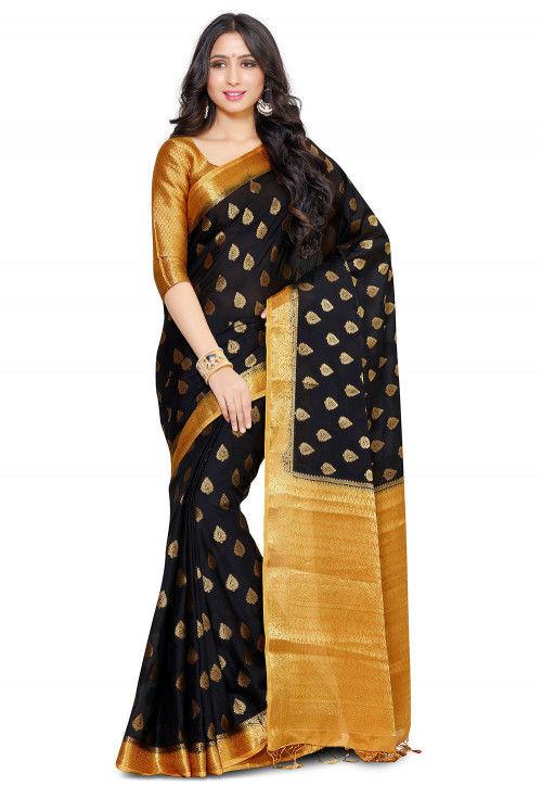 Mysore Crepe Saree in Black