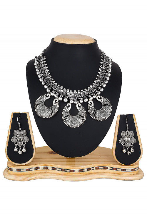 Oxidised Necklace Set