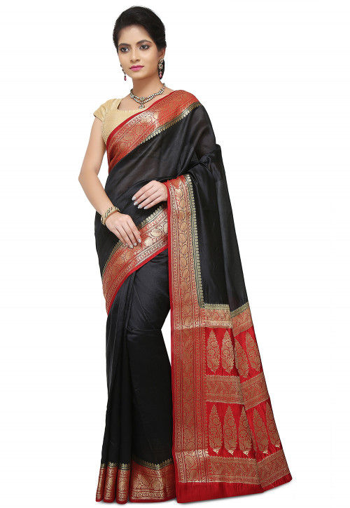 Pure Silk Banarasi Saree in Black