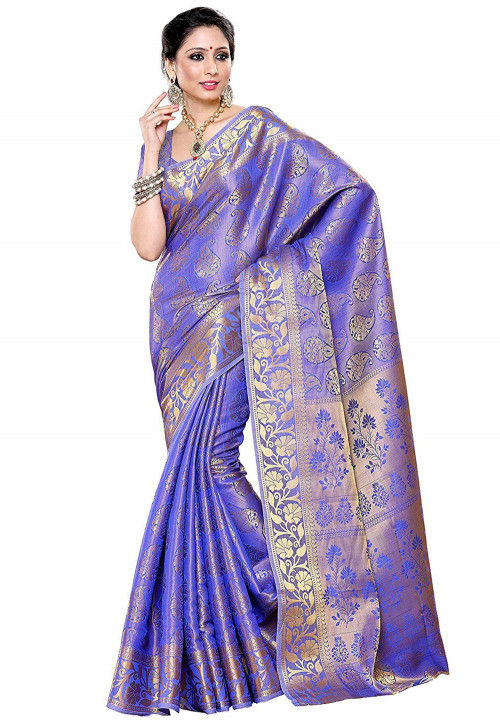 Kanchipuram Saree in Light Purple