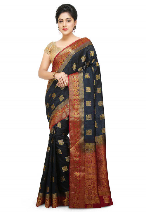Kanchipuram Saree in Black