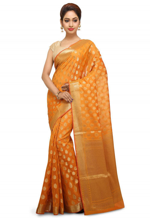 Banarasi Saree in Mustard