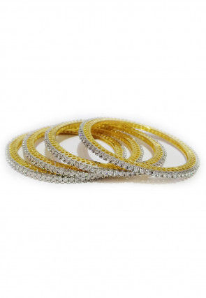 American Diamond Studded Bangle Set