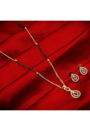American Diamond Studded Mangalsutra Set