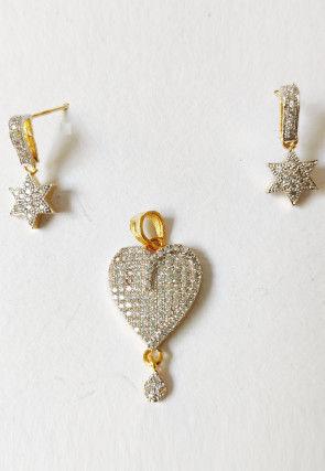 American Diamond Studded Pendant Set