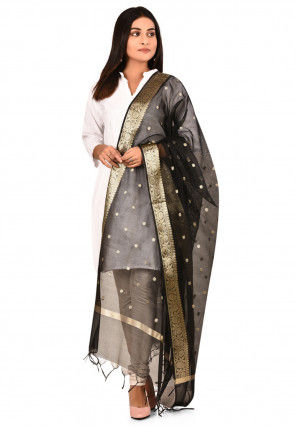 Banarasi Dupatta in Black