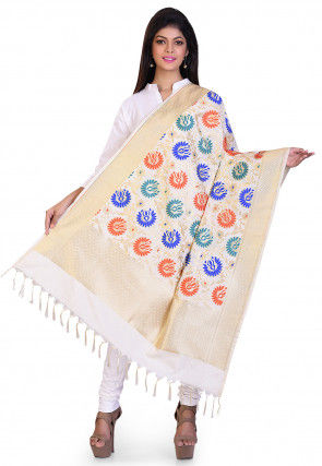 Banarasi Dupatta in Cream