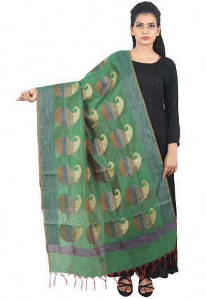Banarasi Dupatta in Green