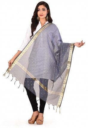 Banarasi Dupatta in Grey