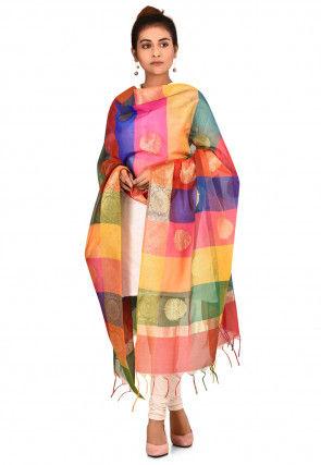 Banarasi Dupatta in Multicolor