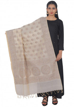 Banarasi Dupatta in Off White