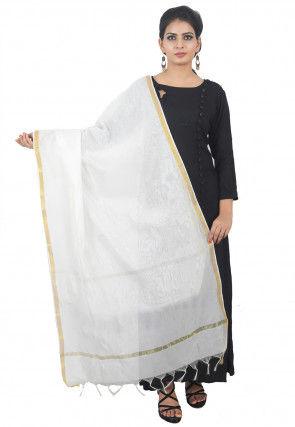 Banarasi Dupatta in Off White