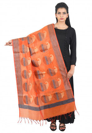 Banarasi Dupatta in Orange