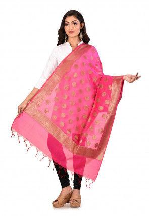 Banarasi Dupatta in Pink