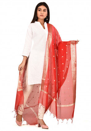 Banarasi Dupatta in Red