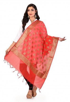 Banarasi Dupatta in Red