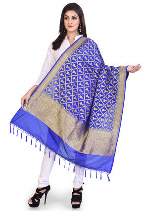 Banarasi Dupatta in Royal Blue