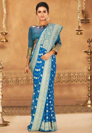 Banarasi Pure Georgette Saree in Blue