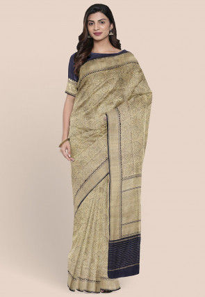 Banarasi Pure Katan Silk Saree in Beige