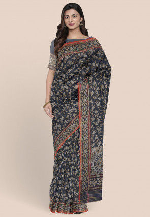 Banarasi Pure Katan Silk Saree in Dark Grey