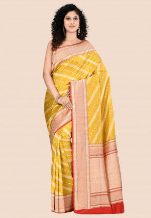Banarasi Pure Katan Silk Saree in Mustard
