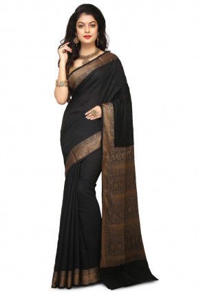 Banarasi Pure Muga Silk Saree in Black