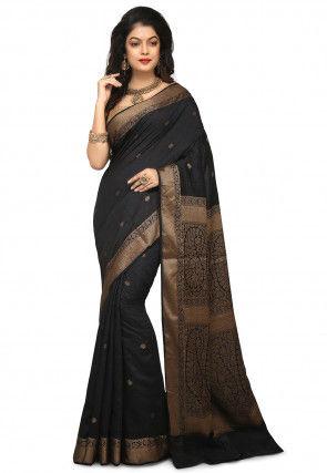 Banarasi Pure Muga Silk Saree in Black